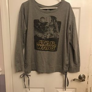 Star Wars Graphic Grey Lace Up Side Sweatshirt 2XL